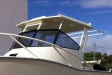Bimini Semi Hardtop including Grad Rails and Rod Holders